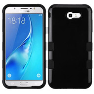 Military Grade Certified TUFF Hybrid Armor Case for Samsung Galaxy J7 (2017) / J7 V / J7 Perx - Jet Black