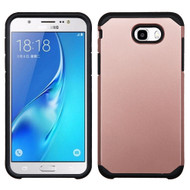 Hybrid Multi-Layer Armor Case for Samsung Galaxy J7 (2017) / J7 V / J7 Perx - Rose Gold