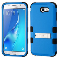 Military Grade Certified TUFF Hybrid Armor Case with Stand for Samsung Galaxy J7 (2017) / J7 V / J7 Perx - Blue