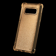Premium Sparkling Sheer Glitter Candy Skin Cover for Samsung Galaxy Note 8 - Gold