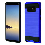Brushed Hybrid Armor Case for Samsung Galaxy Note 8 - Blue