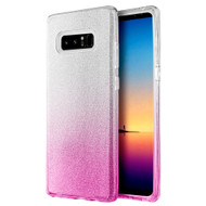 Full Glitter Hybrid Protective Case for Samsung Galaxy Note 8 - Gradient Pink