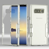 TUFF Panoview Transparent Hybrid Case for Samsung Galaxy Note 8 - Silver