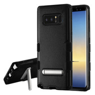 Military Grade Certified TUFF Hybrid Armor Case with Stand for Samsung Galaxy Note 8 - Black