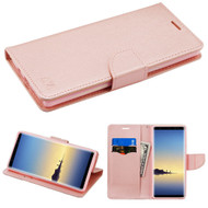Diary Leather Wallet Case for Samsung Galaxy Note 8 - Rose Gold