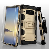 *SALE* Military Grade Certified Storm Tank Hybrid Case + Holster + Screen Protector for Samsung Galaxy Note 8 - Gold