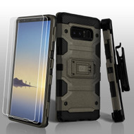 Military Grade Certified Storm Tank Hybrid Case with Holster and Screen Protector for Samsung Galaxy Note 8 - Dark Grey