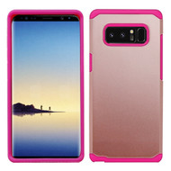 Hybrid Multi-Layer Armor Case for Samsung Galaxy Note 8 - Rose Gold Hot Pink