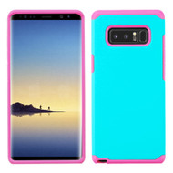 Hybrid Multi-Layer Armor Case for Samsung Galaxy Note 8 - Teal Green Hot Pink