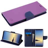 Diary Leather Wallet Case for Samsung Galaxy Note 8 - Purple