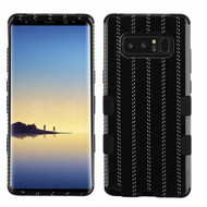 Military Grade Certified TUFF Image Hybrid Armor Case for Samsung Galaxy Note 8 - Black Striped Suit