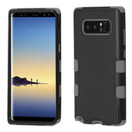 Military Grade Certified TUFF Hybrid Armor Case for Samsung Galaxy Note 8 - Black Grey