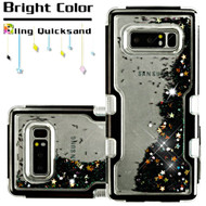 TUFF Quicksand Glitter Hybrid Armor Case for Samsung Galaxy Note 8 - Black