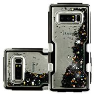 TUFF Quicksand Glitter Hybrid Armor Case for Samsung Galaxy Note 8 - Black