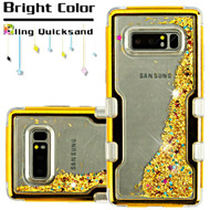 TUFF Quicksand Glitter Hybrid Armor Case for Samsung Galaxy Note 8 - Gold