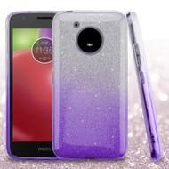 Full Glitter Hybrid Protective Case for Motorola Moto E4 - Gradient Purple