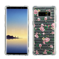 Klarity Premium Transparent Anti-Shock TPU Case for Samsung Galaxy Note 8 - Pink Fresh Roses