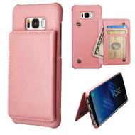 Pocket Wallet Case with Stand for Samsung Galaxy S8 Plus - Pink