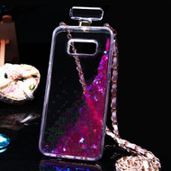 Perfume Bottle Quicksand Glitter Case for Samsung Galaxy S8 Plus - Pink