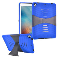 Shockproof Hybrid Armor Case with Stand for iPad (2018/2017) - Blue