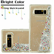 Quicksand Glitter Transparent Case for Samsung Galaxy Note 8 - Silver
