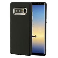 Premium TPU Case with Electroplating Accents for Samsung Galaxy Note 8 - Black