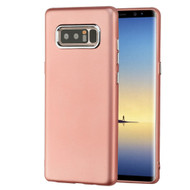 Premium TPU Case with Electroplating Accents for Samsung Galaxy Note 8 - Rose Gold