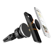 Magnetic Car Air Vent Mount with Secure Twist Lock - Black