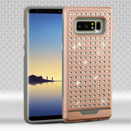 Luxury Bling Diamond Hybrid Case for Samsung Galaxy Note 8 - Rose Gold