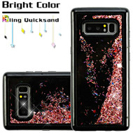 Quicksand Glitter Case for Samsung Galaxy Note 8 - Black Rose Gold