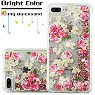 Confetti Quicksand Glitter Transparent Case for iPhone 8 Plus / 7 Plus / 6S Plus / 6 Plus - European Rose