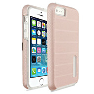 Haptic Dots Texture Anti-Slip Hybrid Armor Case for iPhone SE / 5S / 5 - Rose Gold