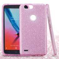 Full Glitter Hybrid Protective Case for ZTE Blade Z Max - Pink