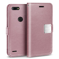*SALE* Essential Leather Wallet Case for ZTE Blade Z Max - Rose Gold