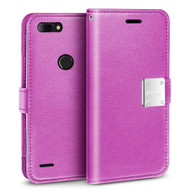 *SALE* Essential Leather Wallet Case for ZTE Blade Z Max - Purple