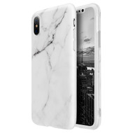 *SALE* Marble IMD Soft TPU Case for iPhone XS / X - White