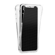 Anti-Scratch 360 Front and Back Full Body Protection Transparent TPU Case for iPhone XS / X - Clear