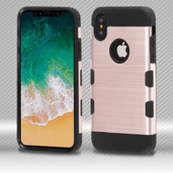 *SALE* Military Grade Certified TUFF Trooper Dual Layer Hybrid Armor Case for iPhone XS / X - Rose Gold