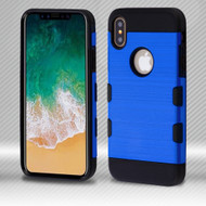 *SALE* Military Grade Certified TUFF Trooper Dual Layer Hybrid Armor Case for iPhone XS / X - Blue