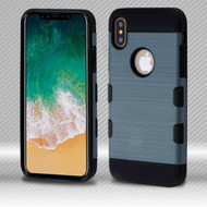 *SALE* Military Grade Certified TUFF Trooper Dual Layer Hybrid Armor Case for iPhone XS / X - Slate Blue