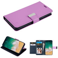 Essential Leather Wallet Stand Case for iPhone XS / X - Purple