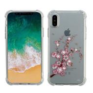 Klarity Premium Transparent Anti-Shock TPU Case for iPhone XS / X - Spring Flowers