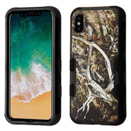 *SALE* Military Grade Certified TUFF Image Hybrid Armor Case for iPhone XS / X - Tree Camouflage