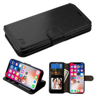 *SALE* Book-Style Leather Folio Case for iPhone XS / X - Black