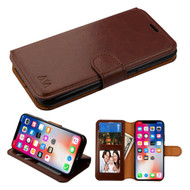 *SALE* Book-Style Leather Folio Case for iPhone XS / X - Brown