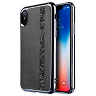 Diamond Belt Collection Electroplated TPU Case for iPhone XS / X - Black