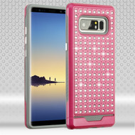 Luxury Bling Diamond Hybrid Case for Samsung Galaxy Note 8 - Hot Pink