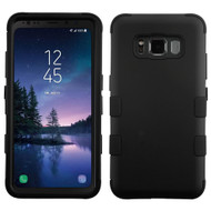 Military Grade Certified TUFF Hybrid Armor Case for Samsung Galaxy S8 Active - Black