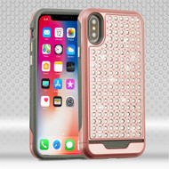 *SALE* Luxury Bling Diamond Hybrid Case for iPhone XS / X - Rose Gold
