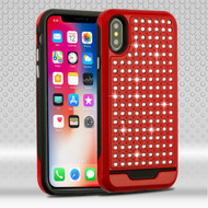 *SALE* Luxury Bling Diamond Hybrid Case for iPhone XS / X - Red